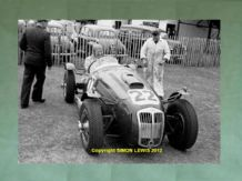 "Frazer Nash Le Mans Rep.Rudi Fischer(Wharton's Car)Isle of Man 1952.10x7"" photo"